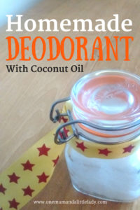 how to make homemade deodorant with coconut oil recipe.