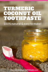 Make your own natural DIY toothpaste with this easy turmeric coconut oil toothpaste recipe!