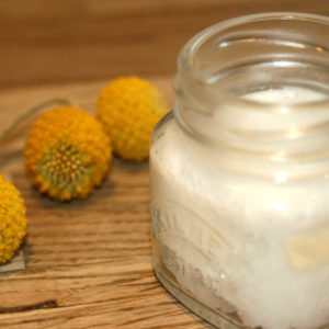 how to make coconut oil deodorant.