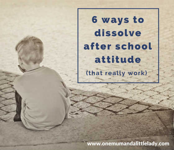 ways to dissolve after school attitude