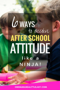 6 ways to dissolve the after school attitude.