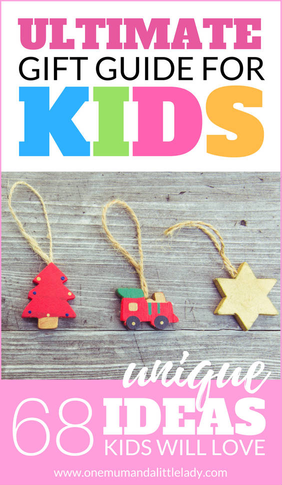 Never be stuck for a gift again with this ultimate holiday Christmas gift guide for kids! 68 unique & creative gift ideas for boys, girls and toddlers.