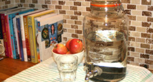 how to make a homemade water filter with binchotan charcoal.