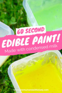 How to make homemade DIY edible paint with condensed milk.