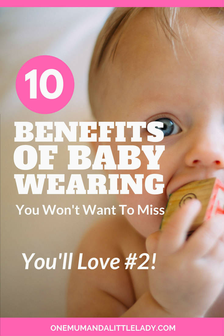 You'll love the amazing benefits of baby wearing! Babies that are carried cry less plus using a newborn baby carrier helps you bond with baby too! Check out all the 10 benefits here!