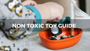 A non toxic wooden toy from Plan Toys.