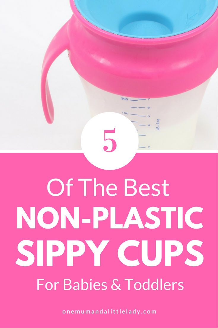 Looking for the best non plastic sippy cups? These 5 glass and stainless steel sippy cup options are great safer choices for babies and toddlers.