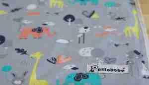 Pillobebe Organic Cotton Play Mat - Safari Dream. Photo copyright: pillobebe.com.