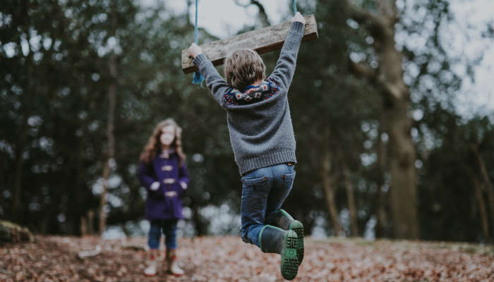 Kids playing outdoors:Photo by Annie Spratt on Unsplash.com.