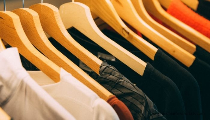 Eco friendly clothing on hangers. Image copyright Kai Pilger, via Pexels.com.
